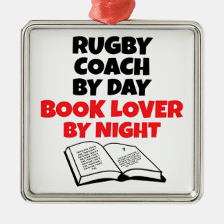 Rugby Coach Book Lover Metal Ornament