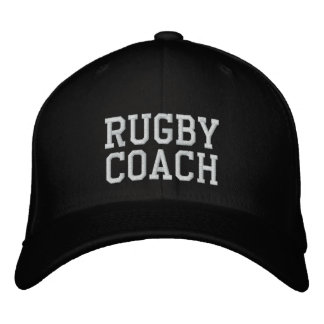 Rugby Coach Embroidered Hat