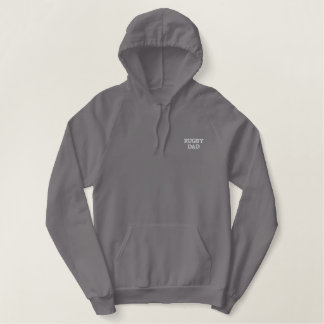 Rugby Dad Embroidered Hoodie