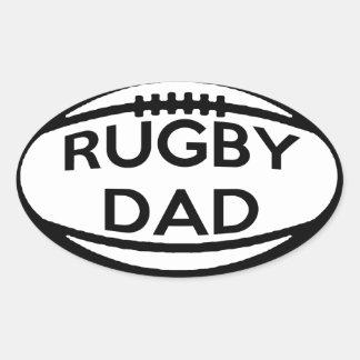 Rugby Dad Oval Sticker