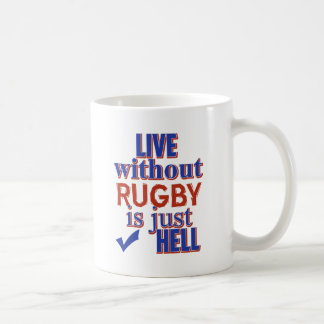 RUGBY DESIGN COFFEE MUG