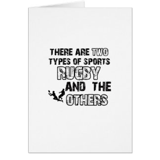 rugby designs for lovers of the sport card