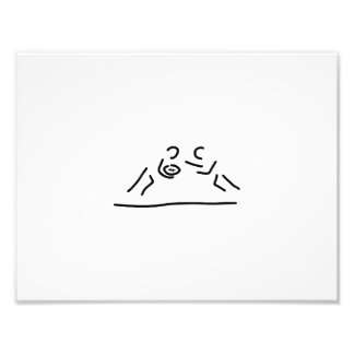 rugby egg fight player photo print