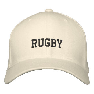 Rugby Embroidered Baseball Cap