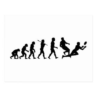 Rugby Evolution Fun Sports Postcard