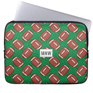 Rugby / Football custom monogram laptop sleeves