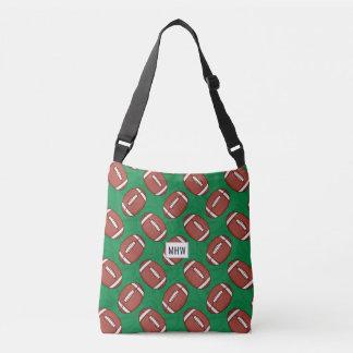 Rugby / Football Pattern custom monogram bags