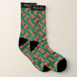Rugby / Football Pattern custom name socks