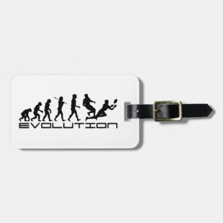 Rugby Football Sport Evolution Art Luggage Tag