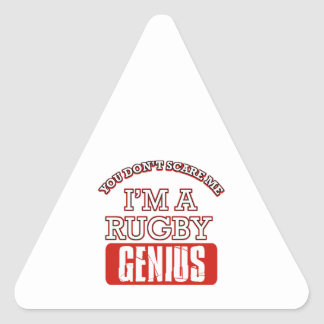 rugby genius triangle sticker