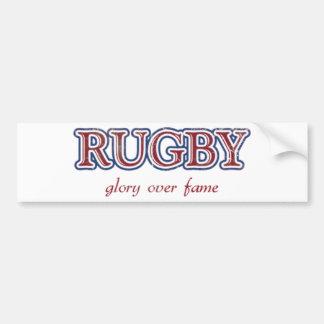 Rugby Glory Over Fame Distressed   U.S. Custom Ink Bumper Sticker