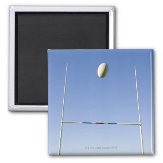 Rugby Goal Square Magnet