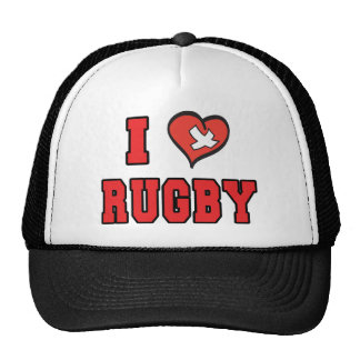 Rugby I LOVE RUGBY Trucker Hat