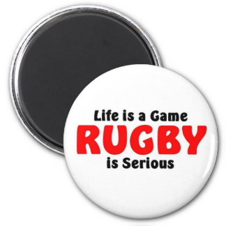 Rugby is serious 2 inch round magnet