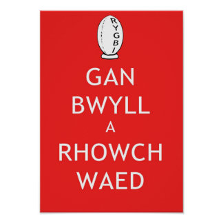 Rugby Keep Calm & Give Blood (Welsh) Poster