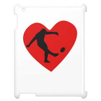 Rugby Kick Heart iPad Cases