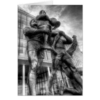 Rugby League Legends Statue Wembley Card