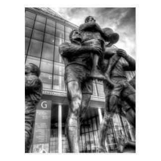 Rugby League Legends Statue Wembley Postcard