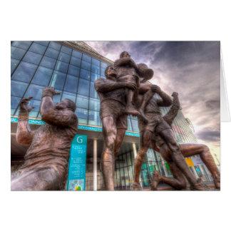Rugby League Legends statue Wembley stadium Card