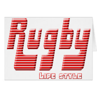 Rugby life style card