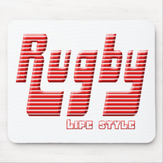 Rugby life style mouse pad