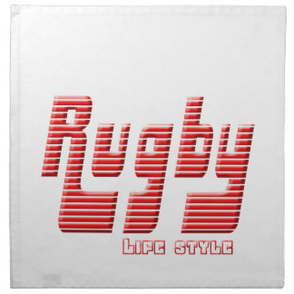 Rugby life style napkin