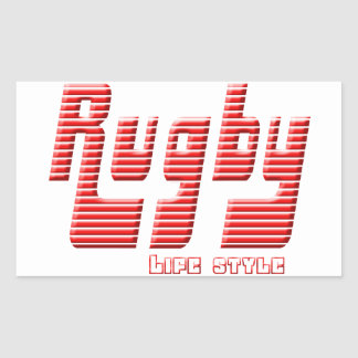 Rugby life style sticker