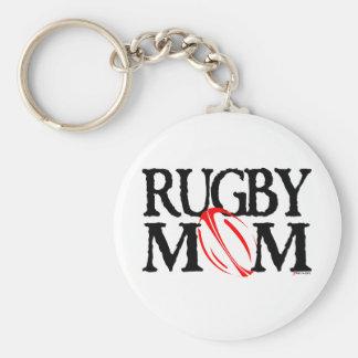 rugby mom keychain