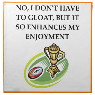 rugby napkin