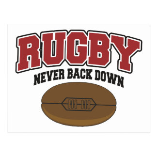 Rugby Never Back Down Postcard