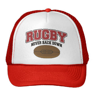 Rugby Never Back Down Trucker Hat
