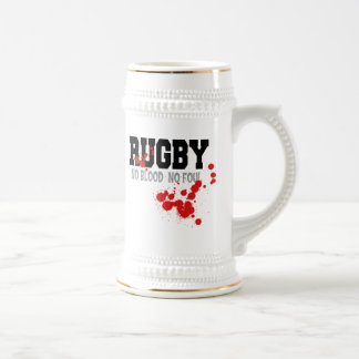 Rugby No Blood No Foul 18 Oz Beer Stein
