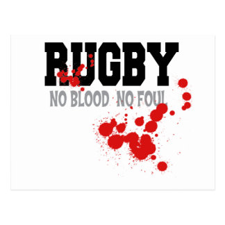 Rugby No Blood No Foul Postcard