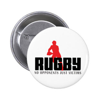 Rugby No Opponents Just Victims 2 Inch Round Button