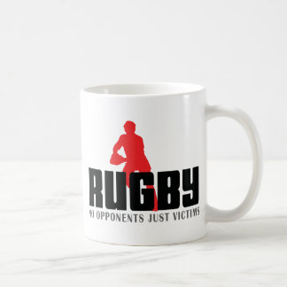 Rugby No Opponents Just Victims T-Shirt Classic White Coffee Mug