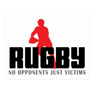 Rugby No Opponents Just Victims T-Shirt Postcard