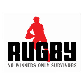 Rugby No Winners Only Survivors Postcard