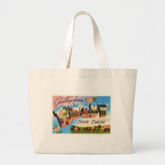 Rugby North Dakota ND Old Vintage Travel Souvenir Large Tote Bag