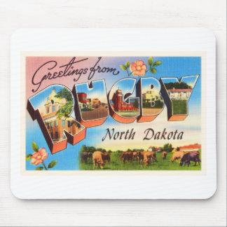 Rugby North Dakota ND Old Vintage Travel Souvenir Mouse Pad
