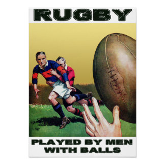 Rugby Played By Men - Vintage Poster