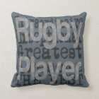 Rugby Player Extraordinaire Throw Pillow