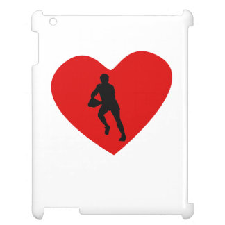 Rugby Player Heart iPad Cases