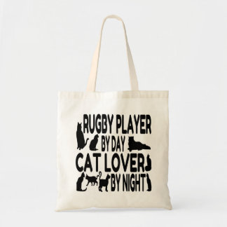 Rugby Player Loves Cats Tote Bag