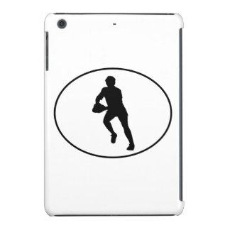 Rugby Player Silhouette Oval iPad Mini Cases