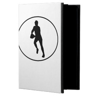 Rugby Player Silhouette Oval Case For iPad Air