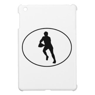 Rugby Player Silhouette Oval Case For The iPad Mini