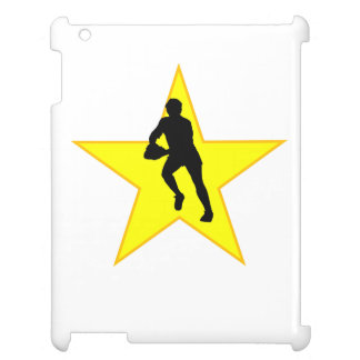 Rugby Player Silhouette Star iPad Case