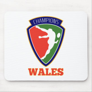 Rugby Player  Wales Champions Mouse Pad