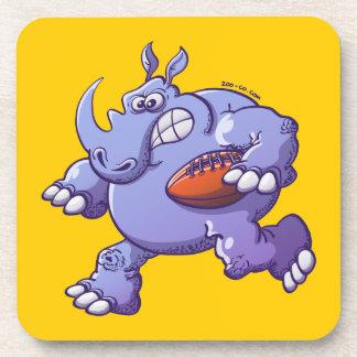 Rugby Rhinoceros Beverage Coaster