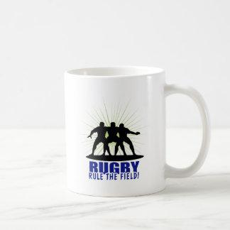 Rugby Rule The Field Classic White Coffee Mug